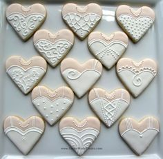Bridal gown cookies (2 of 2)