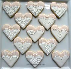 wedding dress cookies 2