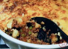 comfortable food - a traditional shepherd's pie recipe