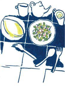 A good breakfast is always good,, Rika Sakai   Illustration & Drawing