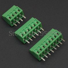 50PCS 2.54MM PITCH SPRING TERMINAL BLOCKS CONNECTOR 2/3/4/5/10-20P KF120 STRAIGHT PIN COPPER SCREW PCB TERMINALS RoHS