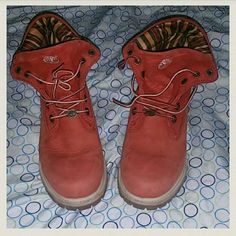 Timberland Boots Water Proof, 9/10 conditions  Red color Size 5.5 can fit 6 in womens  ?Open to offer and Trades? timberland  Shoes Winter & Rain Boots