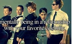 Lol! Me and my bff say that we're married to Niall and Harry! Me with Harry and her with Niall! :)