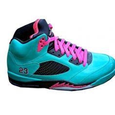 huge discount 47e09 8c87f Air Jordan 5 South Beach Blue Pink Black  56 Nike Shoes Blue, Cheap Nike  Running