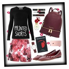 """""""Black & Red ❤"""" by misplacedperfection ❤ liked on Polyvore featuring York Wallcoverings, Moncler Gamme Rouge, Michael Kors, Valentino, DKNY, Diane Von Furstenberg, Marc Jacobs, shu uemura, Tom Ford and CO"""
