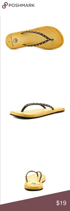 Ocean Minded Oume Luxe Flip Flops A beautiful leather flip flops.  Has metal beads for added style.  Finished with comfortable OM foam outside.  Ocean minded utilizes recycled and sustainable materials in their footwear, apparel, and accessories whenever possible. Ocean Minded Shoes Sandals