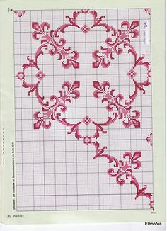 Table Cloth & Bedspread - Majida Awashreh - Picasa Web Albums Cross Stitch Rose, Cross Stitch Borders, Cross Stitch Flowers, Cross Stitching, Cross Stitch Patterns, Knitting Patterns, Crochet Patterns, Blackwork Embroidery, Cross Stitch Embroidery