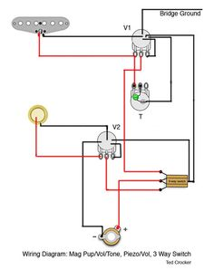 Piezo       Diagram    with Volume Pot and Jack   Making Guitars