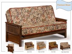 Full Size Sunrise Premium Wood Futon Bed Package by Night & Day