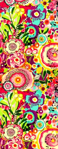 Alexander Henry floral fabric print! Wow