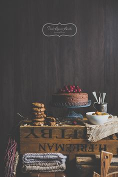 Food photography with a dark tone