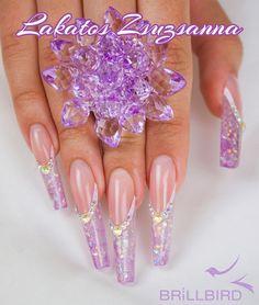 purple - bling - nail art