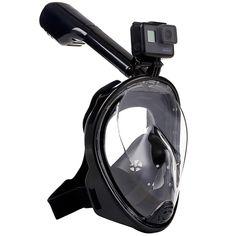 2017 New Full Face  Anti-fog Snorkeling Diving Mask Anti-skid Ring Snorkel Scuba GoPro Camera Snorkel Masks Underwater Click visit to check price #watersport