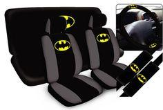 11pc DC Comic Batman Beyond Dark Knight SuperHero Arkham Complete Car Seat Cover