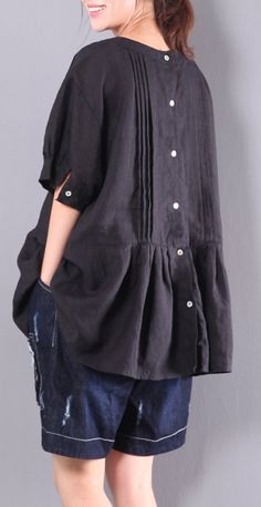 linen blouse plus size ruffles tops o neck t shirt