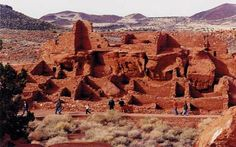 Wupatki National Monument, Arizona. Many settlement sites built by the Sinagua, Cohonina, and Kayenta Anasazi are scattered throughout this 35,422 avre monument. About 2000 Ancient Pueblo People moved here to farm after an 11th century eruption of Sunset Crater.