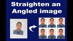 how to Straighten an angled image and make it passport size photo in Ado...