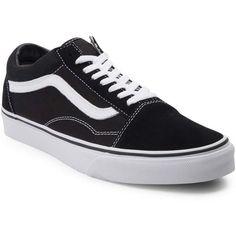 Vans Old Skool Skate Shoe ($60) via Polyvore featuring shoes, sneakers, flexible shoes, shock absorbing shoes, vans shoes, skate shoes and genuine leather shoes