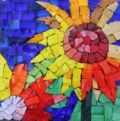 Beautiful sunflower           #mosaic #flowers