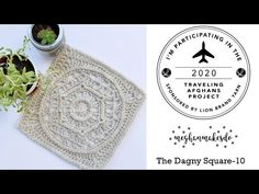 (72) Traveling Afghans, The Dagny Square, Free Crochet Pattern, Lionbrand traveling afghans project - YouTube Crochet Squares Afghan, Crochet Poncho Patterns, Crochet Square Patterns, Crochet Blocks, Crochet Motif, Crochet Designs, Hand Crochet, Free Crochet, Crochet Granny