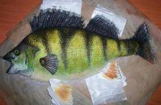 okoun , 3D dorty, fotopostupy | Dorty od mamy Fish, Meat, Cakes, 3d, Ideas, Cake Makers, Pisces, Kuchen, Cake