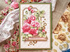 La Luna handmade: Открытка Vintage roses