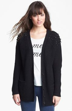 Very cute and less than $50, on sale now. The Love by Design Studded Long Cardigan (Juniors) (Online Only) available at #Nordstrom