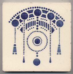 Super rare DTAG Ornament Jugendstil Fliese art nouveau tile in Antiquitäten & Kunst, Porzellan & Keramik, Keramik Motifs Art Nouveau, Azulejos Art Nouveau, Design Art Nouveau, Motif Art Deco, Art Nouveau Pattern, Bijoux Art Nouveau, Art Nouveau Tiles, Tag Art, Art Nouveau Tattoo