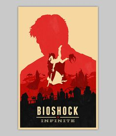 Bioshock Infinite poster by WilliamHenryDesign on Etsy, $20.00