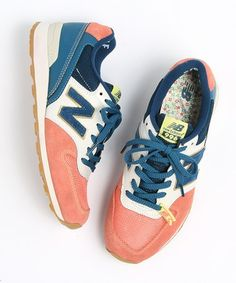 New Balance teal cream coral