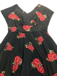 stop staring womens black red rose Short Sleeve Rockabilly dress plus size 22 Short Mini Dress, Short Sleeve Dresses, Dresses With Sleeves, Fit Flare Dress, Fit And Flare, Plus Size Dresses, Plus Size Outfits, Red Black Dress, The Dress