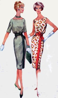 1950s McCalls 5275 Scoop Neck Bloused Bodice Wiggle by sandritocat, $20.00