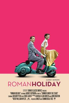 Audrey Hepburn and Gregory Peck in a perfect poster for Roman Holiday. Audrey Hepburn, Old Movies, Great Movies, Indie Movies, Ode An Die Freude, William Wyler, Vintage Films, Foto Poster, Cinema Tv