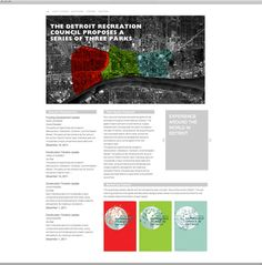 http://www.kathrynbelldesign.com/Detroit-Recreation-Proposal  Web, ui, ux  recreation, poster, world, culture, graphic design, detroit, parks, series, grunge, QR codes