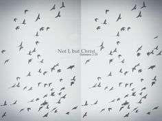 Not I, but Christ. -Galations 2:20