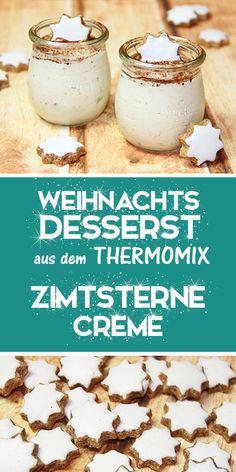 Cinnamon Star Cream - Delicious Christmas dessert from the Thermomix. - This de. - Cinnamon Star Cream – Delicious Christmas dessert from the Thermomix. – This dessert is awesom - Quick Dessert Recipes, Easy Desserts, Cake Recipes, Cheap Clean Eating, Clean Eating Snacks, Dessert Nouvel An, Desserts Thermomix, Dessert Oreo, Creme Dessert