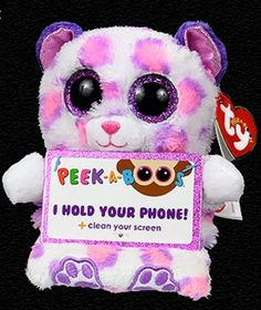 3424cf664db New! Ty Beanie Peek a Boos SAVANNAH Leopard JUSTICE EXCLUSIVE - Cellphone  Holder