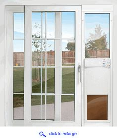 For Pet Owners With Sliding Doors   E Glass Fully Automatic Patio Pet Doors