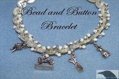 Bead and Button Bracelete Pattern at Sova-Enterprises.com
