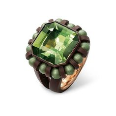 Hemmerle ring : Tourmaline , Aluminium , Gold and Copper