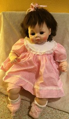 "Madame Alexander 24"" Pussy Cat Baby Doll 1965 Vintage #Dolls"