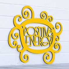 Positive Energy sign LARGE by spunkyfluff on Etsy, $95.00