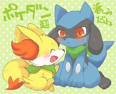 They are so cute! Fennekin and Lucario
