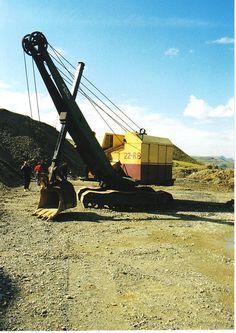 Mining Equipment, Heavy Equipment, Bucyrus Erie, Coal Mining, Shovel, Crane, Utility Pole, Tractors, Construction