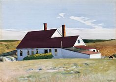 Edward Hopper, Jenness House Looking North, watercolor, 1934, Ringling Museum, Sarasota, FL