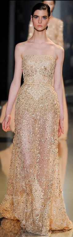 Elie Saab - Haute Couture Spring 2013 gold