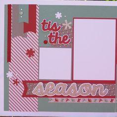 Beautiful Tis the Season Scrapbook Layout Kit by DesignsOnCloud9, $7.49