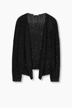 edc - Gebreid vest met pailletjes kopen in de online shop