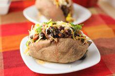 Black Bean stuffed sweet potatoes daniel fast, stuf sweet, black beans, potatoes, corn stuf, bean stuf, yummi, sweet potato, fast foods
