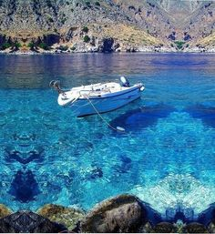 Crystal Clear Water from Greece would love to be there . with. A Greek.Godess